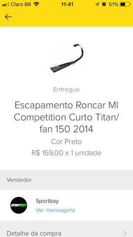 Escapamento Roncar Cg 2014 2015 - Foto 4