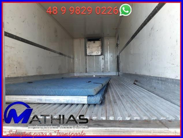 Baú Argi 14 paletes caminhão truck Mathias implementos - Foto 2