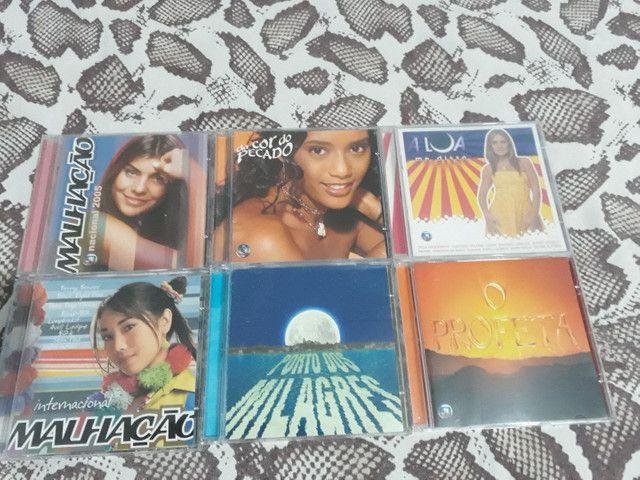 Lote com 6 CDs Trilha de Novelas e Malhação