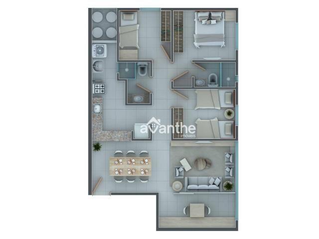 Apartamento com 3 dormitórios à venda, 66 m² por R$ 261.534,00 - Socopo Zona Leste - Teres - Foto 11
