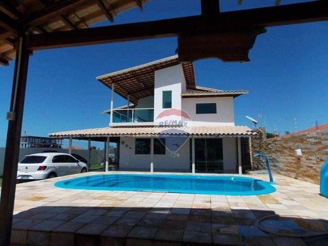 Casa com 4 dormitórios à venda, 322 m² por R$ 459.000,00 - Praia do Amor - Conde/PB