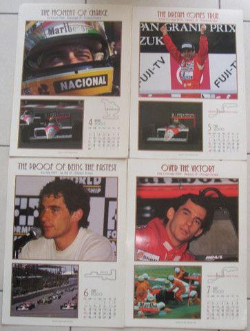 Calendário Fotografico Ayrton Senna 2000 Original Antiguidade Colecionavel - Foto 3