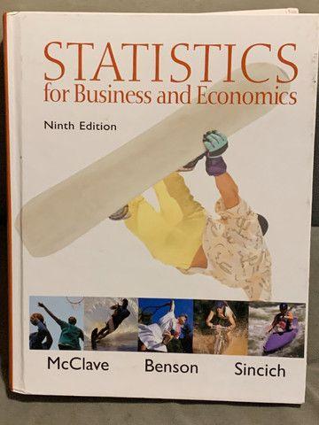 Livro Statistics for Business and Economics em perfeito estado