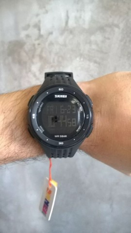 Relógio Skmei Digital 1219, Original, Á prova Dagua, Luz Noturna de Led - Foto 5