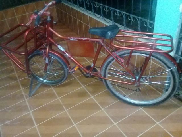Bicicleta cargueira com marcha
