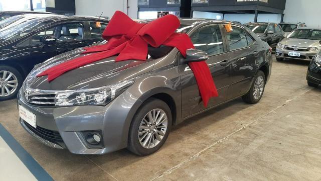 Toyota 2016/2017 Corolla xei 2.0 Automatico cinza completo confira - Foto 2