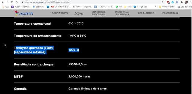 SSD NvME Gammix S5 2tb (Usado) - Foto 3