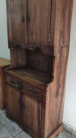 Armário tipo cristaleira madeira maciça  - Foto 3