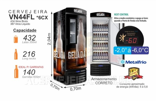 Cervejeira Metalfrio e Fricon Linha Comercial - Foto 5