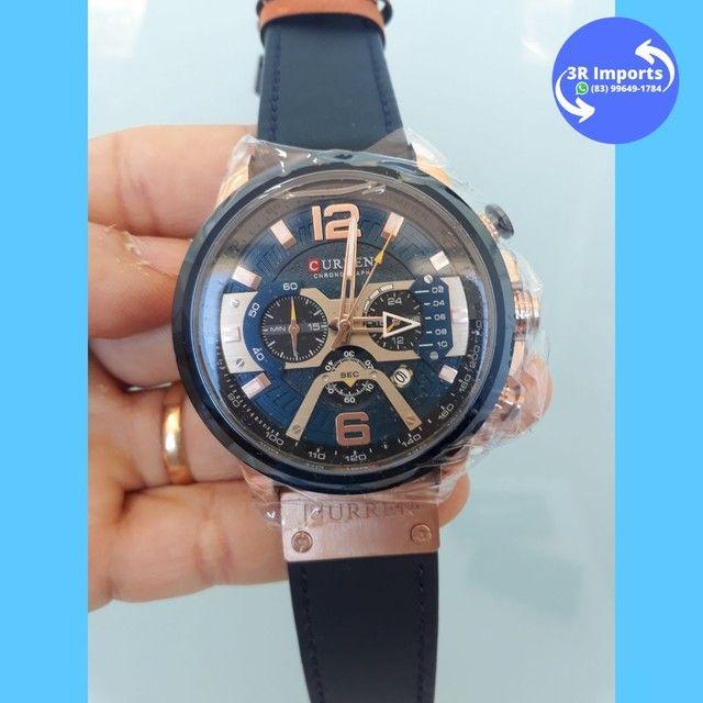 Relógio masculino esportivo de couro - Curren  - Foto 5