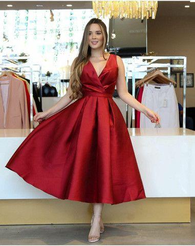 Vendo vestido de festa marsala tam g - Foto 3