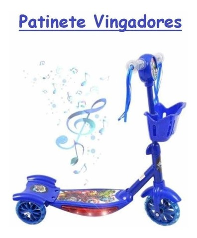 Patinet Infantil 3rodas sonic , herois marvel Scooters Luz/sons triciculo novo 0km - Foto 4