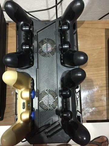 Base de refrigeração e carregador de controle PS4