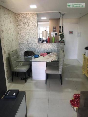 Apartamento com 3 dormitórios à venda, 60 m² por r$ 330.000 - parque bandeirante - santo a - Foto 3