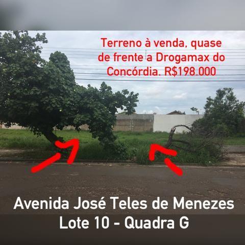 Terreno a poucos metros da farmácia Drogamax e supermercados Rondon do bairro Concórdia