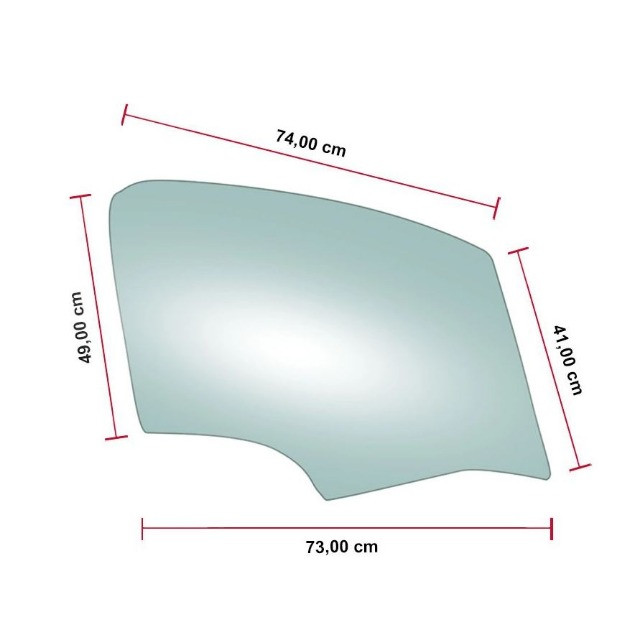 Vidro Porta Dianteira Direita Citroen C3 01/07 Pilkington - Foto 2