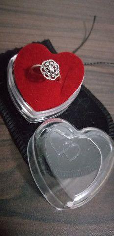 Promoção lindo anel feminino prata legítima pura e nova - Foto 2