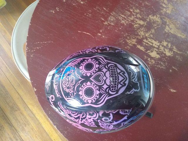 Capacete Peels Feminino Icon Sweet Skull  Com Viseira Interna - Foto 2