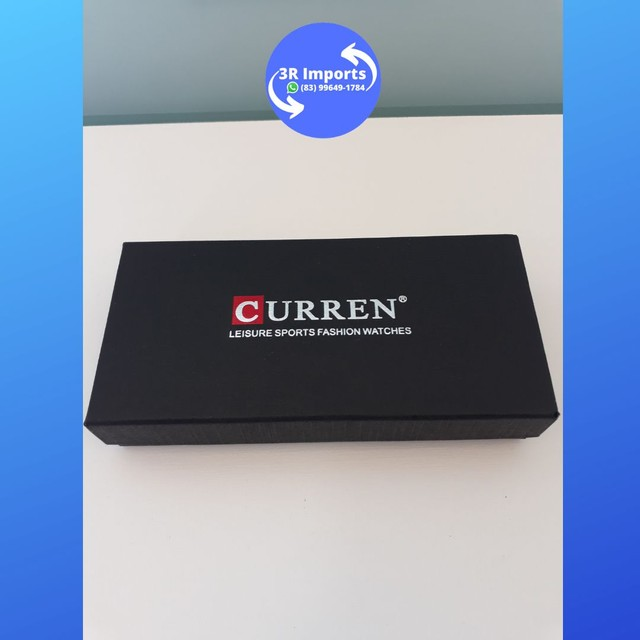 Relógio masculino esportivo de couro - Curren  - Foto 3