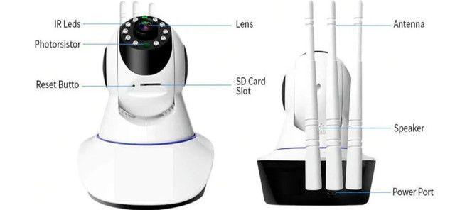 Camera Ultra Hd 3 Antenas Atacado Varejo Sensor de Movimento Visao Noturna - Foto 5