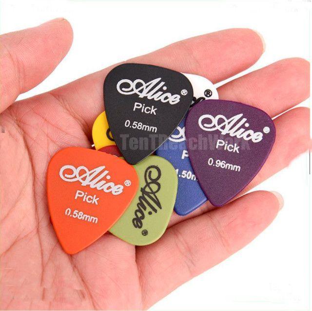 Palhetas/Paletas Guitarra Violão Baixo 50 Unidades + Estojo - Foto 5
