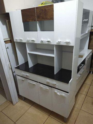Armário de cozinha 8 portas 2 gavetas direto da fábrica  - Foto 4