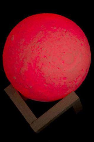 Luminária Lua Cheia 3D Troca de Co - Foto 3