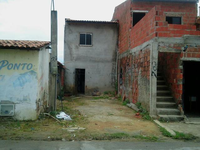 Casa duplex, forrada parte superior