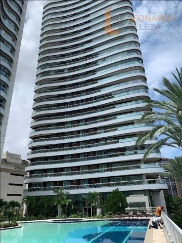 Apartamento com 4 dormitórios à venda, 401 m² por r$ 5.800.000 - meireles - fortaleza/ce