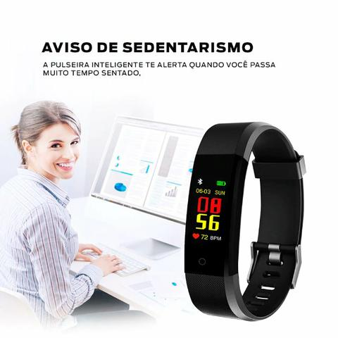 Pulseira Inteligente Fitness Prova Dágua Smartband Preto - Foto 2