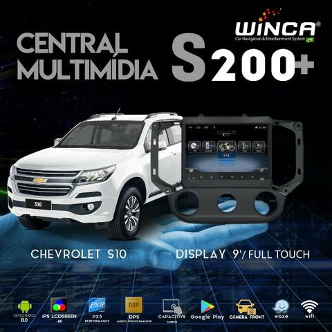 Central Multimídia Winca S200+ GM S10 Tela 9' Full Touch