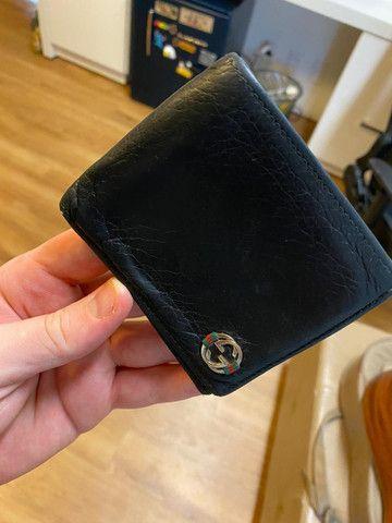 Vendo carteira de couro GUCCI original