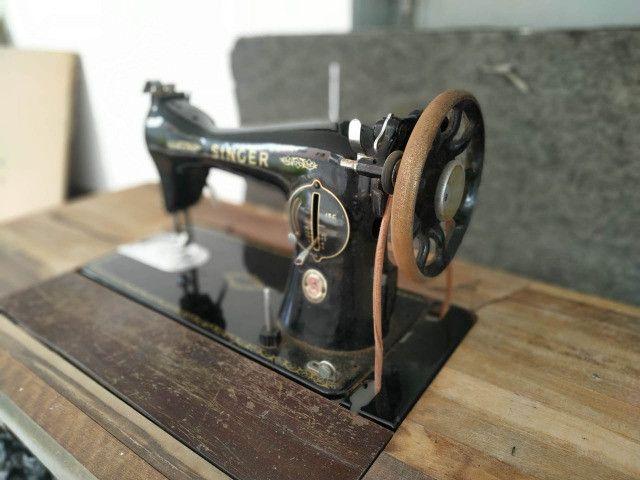 Maquina Costura Antiga Singer Anos 60 - Foto 4