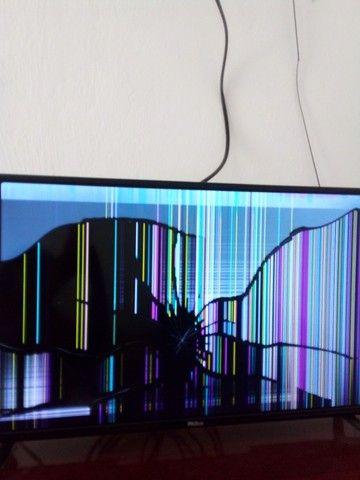 Tv philco led digital com a tela tricada so 4 meses de uso - Foto 2