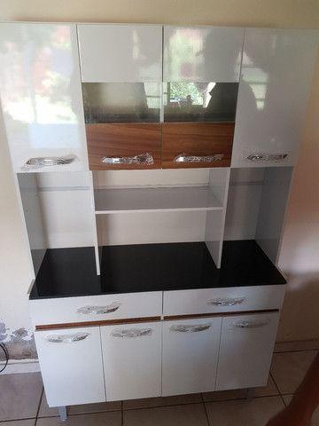 Armário de cozinha 8 portas 2 gavetas direto da fábrica  - Foto 3