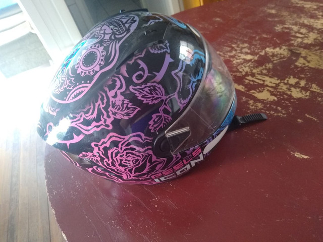 Capacete Peels Feminino Icon Sweet Skull  Com Viseira Interna - Foto 4