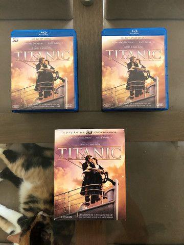 Blu-Ray Titanic 3D Edição de Colecionador (Raro).