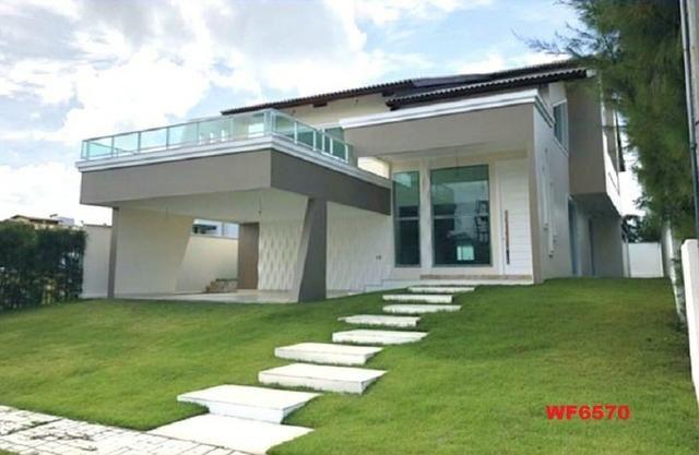 Alphaville Fortaleza, 5 suítes, 5 vagas, casa nova em condomínio, próximo ao Beach Park