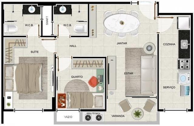Apartamento à venda com 2 dormitórios em Jatiúca, Maceió cod:120 - Foto 3
