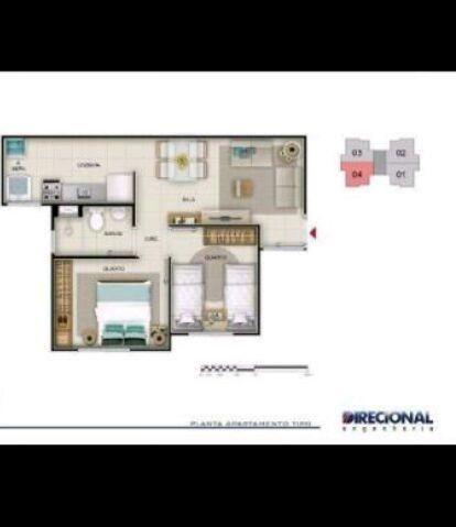 Apartamento Viva Vida Taruma 41m2 2Qtos - 128mil MCMV - Foto 3