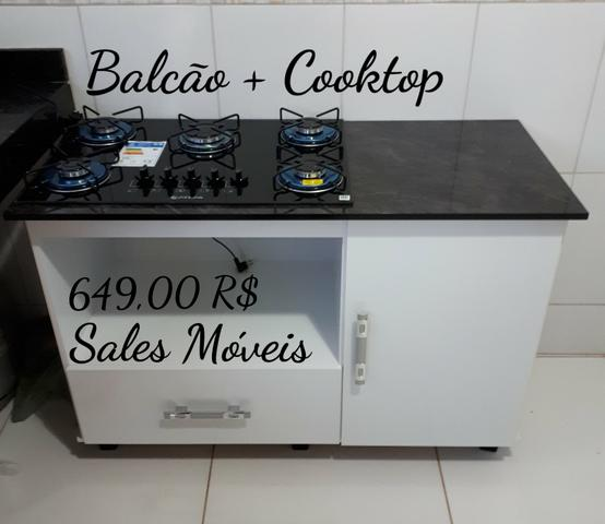 Promoção // Balcão + Cooktop Atlas 5 bcs NOVO NA CAIXA
