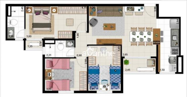 Apartamento com 3 dormitórios à venda, 74 m² por R$ 317.000 - Santa Isabel Zona Leste - Te - Foto 10