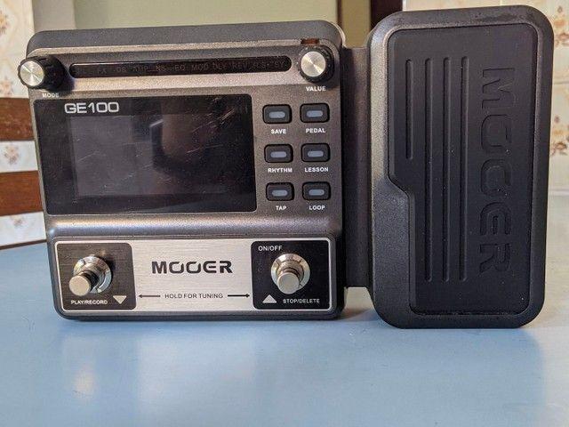 Pedaleira Mooer GE-100 c/fonte (Apenas venda) - Foto 2