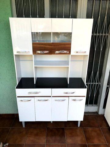 Armário de cozinha 8 portas 2 gavetas direto da fábrica  - Foto 2