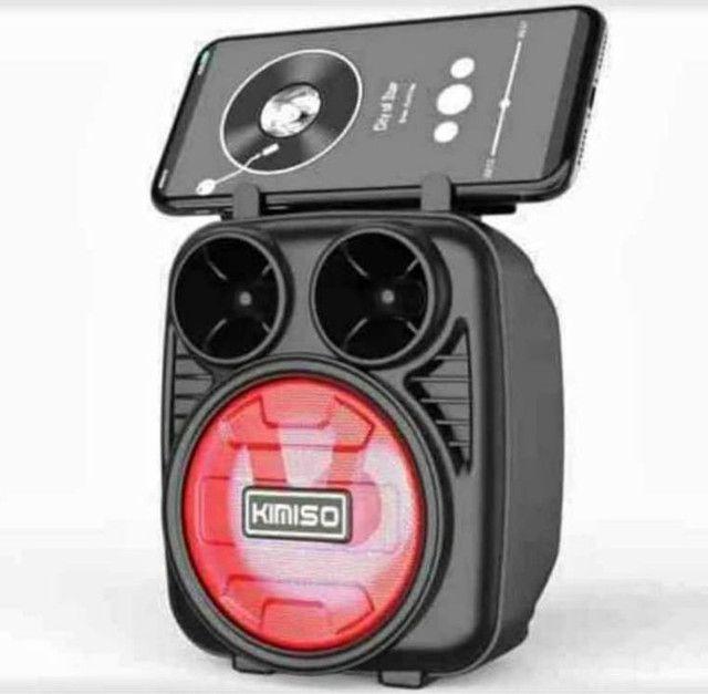 Caixa de som completa com bluetooth rádio entrada pra pendrave e recarregável - Foto 2