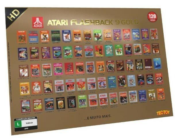 Console Atari Flashback 9 Gold HDMI (controle sem fio) Tec Toy com 120 Jogos (raro) - Foto 4