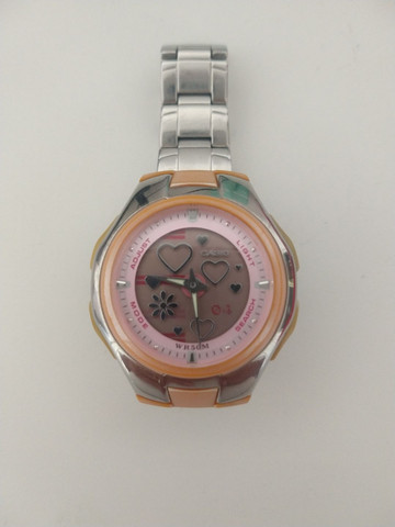 Relógio Casio Feminino Lcf-10 D-4a 5 Alarmes Crono Wr50 Rosa - Foto 2