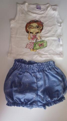 5 conjuntos e 1 vestido (infantil)