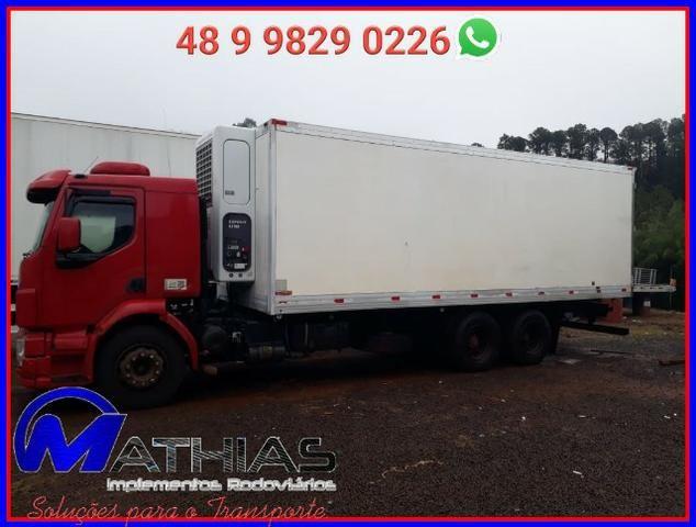 Baú Argi 14 paletes caminhão truck Mathias implementos