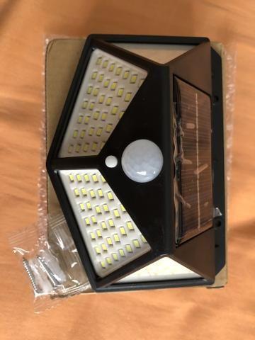 Lâmpada LED Fotocélula carregamento solar externa sem fio sensor acendimento automático